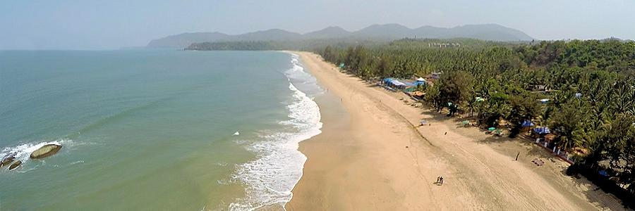 Agonda-Beach in Goa, Indien